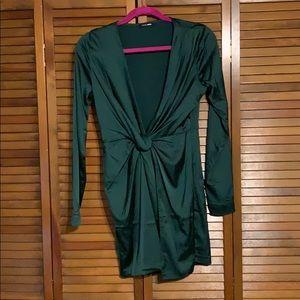 FashionNova hunter green mini dress